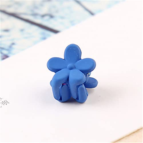 YAYANG Haarnadel 10 stücke Baby mädchen kleine haarklaue Nette süßigkeiten Farbe Blume Haar Kiefer Clip Kinder haarnadel Haarschmuck großhandel Dauerhaft (Color : Blue)