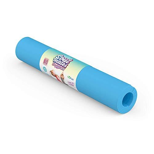 Soul Mates Eco Tapis de yoga pour enfant Unisexe Bleu