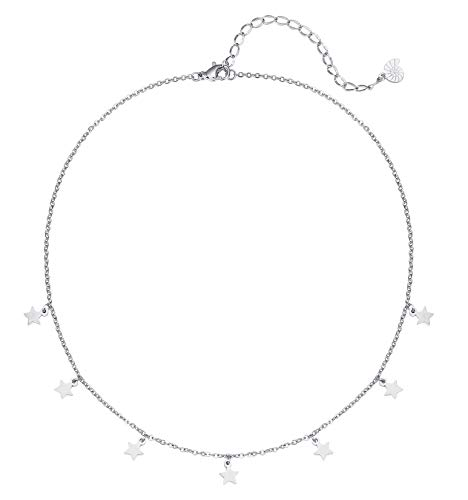 Happiness Boutique Damas Collar Estrella Color Plata
