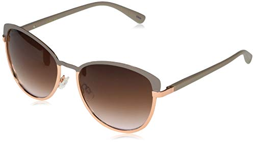 Jessica Simpson J5316 Sleek Metal UV Protective Cat-Eye Sunglasses | Wear All-Year | The Gift of Glam, 60 mm, Nude