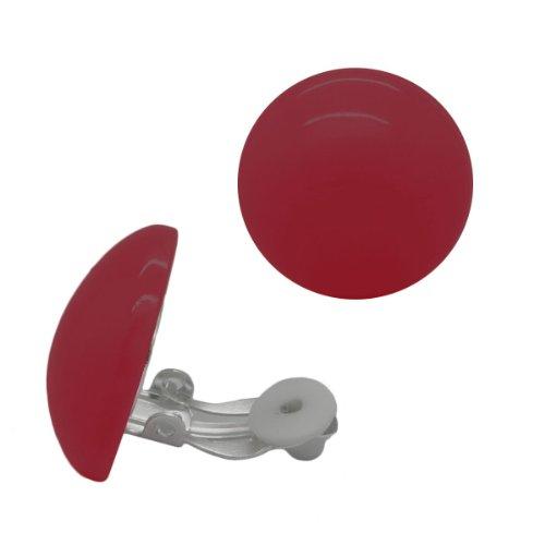 SoulCats® 1 Paar Ohrclips aus Plastik in der Farbe Himbeer
