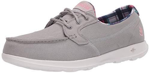 Skechers Women's Boat Shoe, Gray, 6.5
