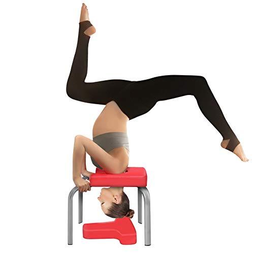 Yoga Hocker Kopfstand Kopfstandhocker Safe Kopfstandstuhl Trainingsstuhl Chair Bank Stuhl, PU Auflagen,Sport Übungs Fitness Ausrüstungen Für Familien Turnhalle Entlasten Ermüdung