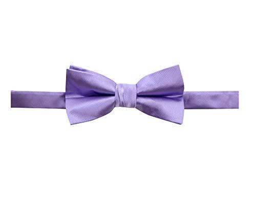 Spring Notion Men's Solid Color Satin Microfiber Bow Tie Dusty Lavender