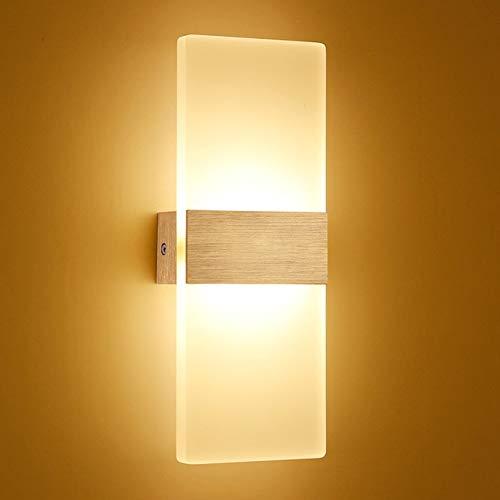 Modernos Accesorios De Luz De Pared Led Iluminación De Escalera Lámpara De Cabecera 2700K Lámpara De Pared De Cabecera Blanca Cálida Luces De Espejo De Baño 12W Dorado Cuadrado