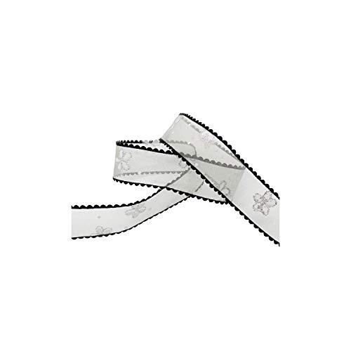 25 mm Blume gedruckt mit hellem Puder Organza-Band-Partei-Bogen-Crafts Kopfbedeckung Accessoire,C1...