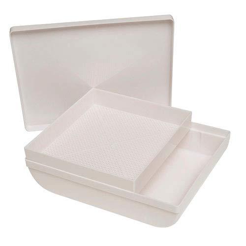 ORYX 5150700 Harinador Cernedero de Plástico con Tapa, Blanco
