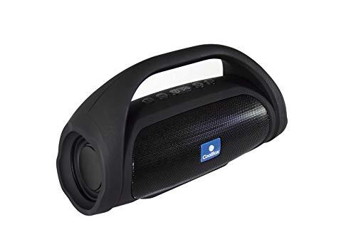CoolStone 05 – Altavoz inalámbrico portátil con asa, hasta 5 horas de autonomía, conexión bluetooth o jack, microSD, USB-host, radio FM, carga en 2.5 horas, función manos libres