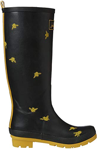 Joules U_wellyprint, Damen Stiefel, Schwarz - Black (BLACK BEES), 36 EU (3 UK)