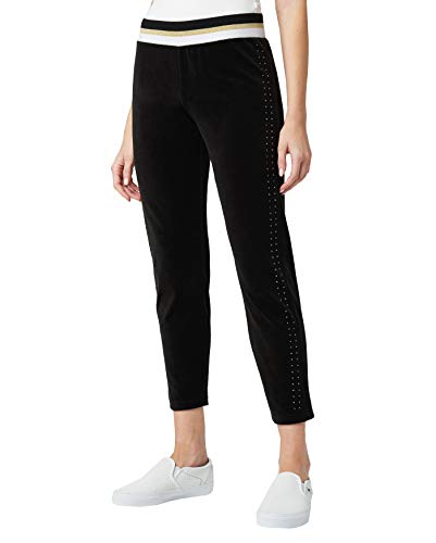 Juicy Couture Women's Velour Track Pants (Pitch Black, X-Small)