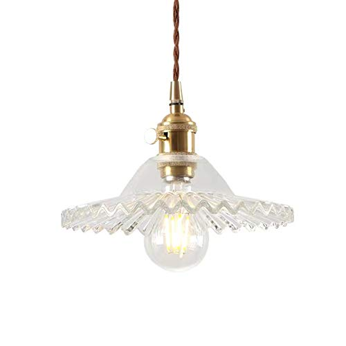 E27 Vintage Lampade a Sospensione in Lampada a Soffitto in Vetro Industriale Vetro Plafoniera Retrò...