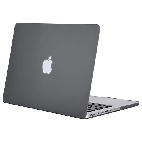 MOSISO Hülle Kompatibel mit MacBook Pro Retina 13 - Plastik Hartschale Hülle Kompatibel mit Ältere Version MacBook Pro Retina 13 Zoll (Modell: A1502 & A1425) (Release 2015 - Ende 2012), Grau