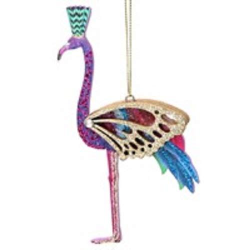 Gisela Graham Fretwork Wooden Flamingo Hanging Christmas Decoration Bauble Ornament