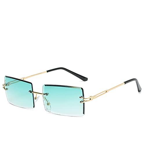 Retro Gafas De Sol,Mujeres Diseñador De Marca Moda Rimless Gradiente Gafas De Sol Lente De Corte De Sombras Señoras Anteojos Sin Marco,I