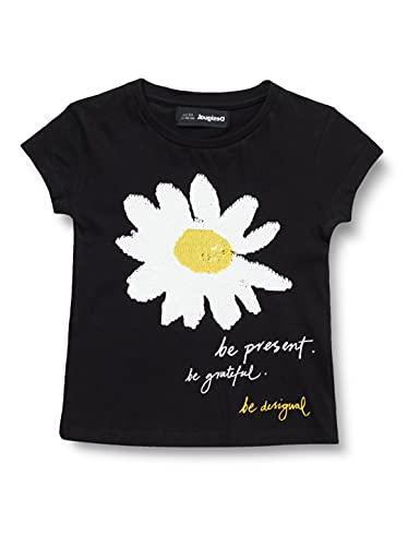Desigual TS_AMBERES Camiseta, Black, 13/14 para Niñas