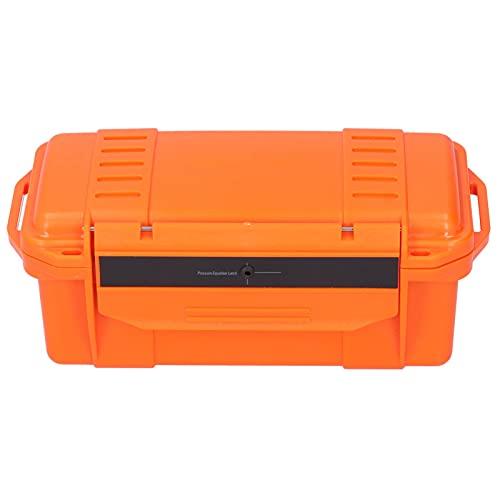 Caja de herramientas para exteriores, caja de almacenamiento de herramientas portátil de plástico duro reforzado con ABS ligero a prueba de golpes para acampar, viajar, pescar