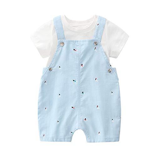 Layette, Dress Up vêtements pour Les Petites Filles avec l'ensemble Siamois Mignon Deux pièces, pour Les garçons et Les Filles,S