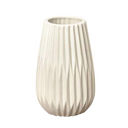 Corlidea Keramik Blumenvasen Set Nordic Imitation Blumentopf Origami Vase Flasche Wohnzimmer Mittelstück Home Decoration Innendekoration Hochzeit Geschenk Zum Muttertag (A 15cm)