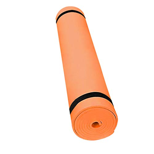 WEI MOLO@ EVA Yoga Mat with Carrying Strap,4mm Thick Gymnastic Pilates Fitness Mat Non-Slip Exercise for Home Gym Orange