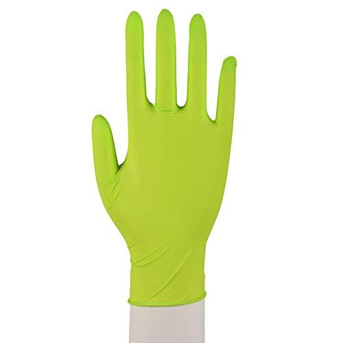 100 Nitril Einmalhandschuhe Puderfrei Größen XS-XL Grün Größe XS (5-6)
