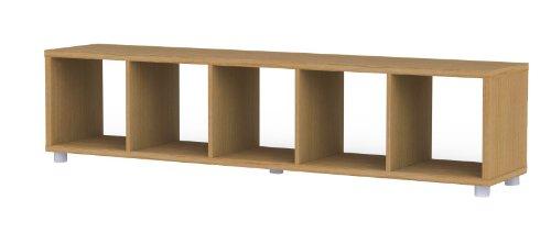 Tenzo 1825-050 Box Designer Raumteiler 1 x 5, Eiche Sägerauh, Spanplatte foliert, Folie mit Struktur, 181 x 38 x 35 cm
