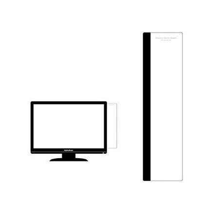 モニターメモボード ≪30cm≫ (右側用, BLACK) パソコンメモボード 付箋 貼り付けボード オフィス用品 シンプルボード 付箋紙ツール メモシール 貼り付けメモ