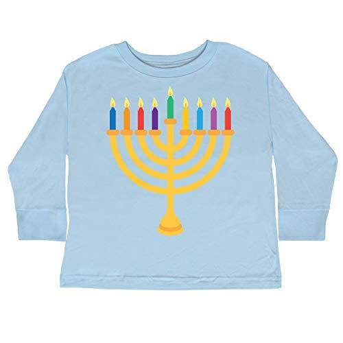 inktastic Hanukkah Menorah Toddler Long Sleeve T-Shirt 2T Light Blue 1fa37