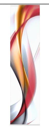 Home Fashion 87603-707 Schiebevorhang Digitaldruck Redfield, Seidenoptik, 245 x 60 cm, rot