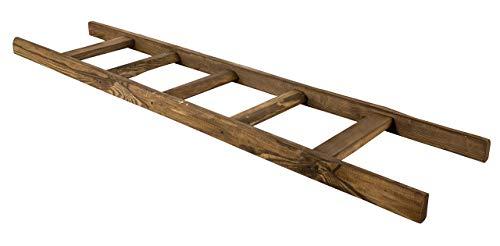 Obstkisten-online 1x Holzleiter mit 5 Sprossen - NEU - 165 cm - Zuhause mit Charme durch kreatives Wohndesign, Lampengestell, Kleiderstange UVM