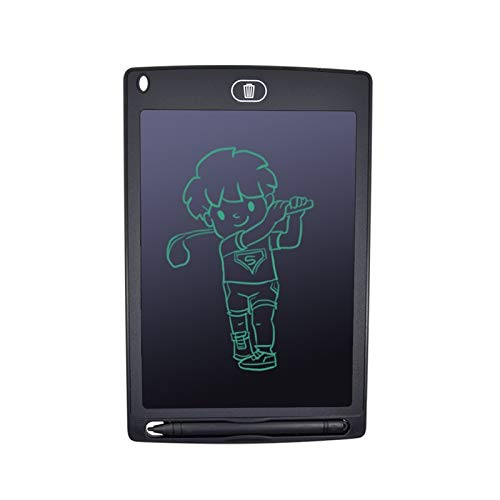 WLSJ Tableta de Dibujo 8.5 Pulgadas Smart LCD Dibujo Tablero Digital Gráficos Escriba Portátil Portátil Portátil Electrónica Handwriting Tablero, Pluma, Batería (Color : Black)