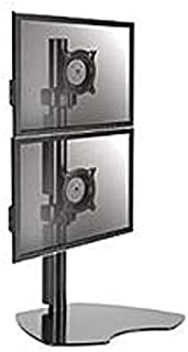 Chief KTP230B Flat Panel Dual Vertical Monitor Table Stand - Black (Renewed)
