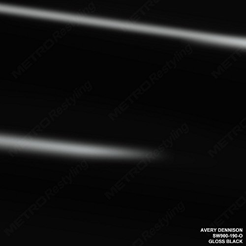 Avery SW900-190-O GLOSS BLACK 5ft x 8ft (40 Sq/ft) Supreme Vinyl Car Wrap Film