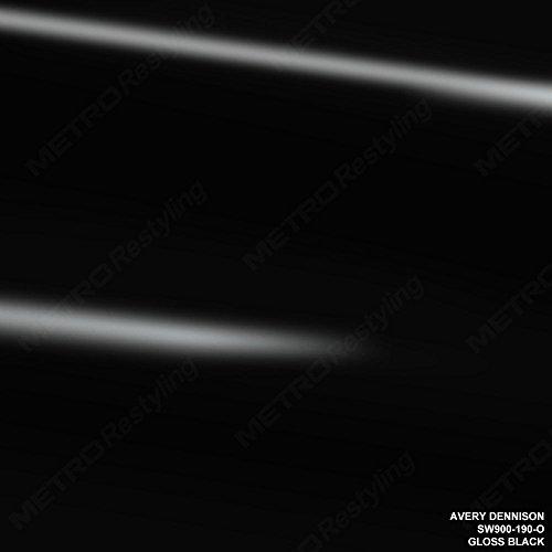 Avery SW900-190-O GLOSS BLACK 5ft x 2ft (10 Sq/ft) Supreme Vinyl Car Wrap Film