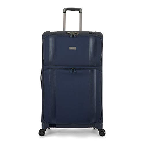 Antler Titus, Super-Strong, Durable & Lightweight Soft Shell Suitcase (Large, Navy)