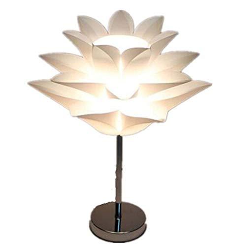 Creatieve persoonlijkheid tafellamp Lotus, Lotus Shape decoratieve plating hardware galjanplastic chroom basis + PP decoratieve lampenkap