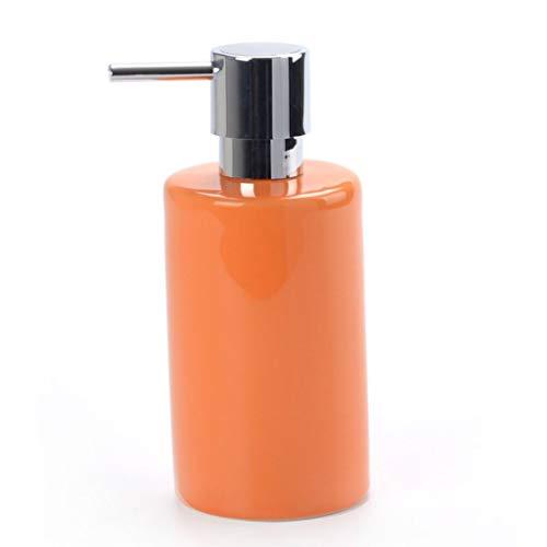 WICKER WEAVING Dispensador de líquido Estilo Simple nórdica Champú Botella Botella cosmética vacía de cerámica dispensador de jabón Dispensador de jabón líquido para Manos Recargable (Color : E)