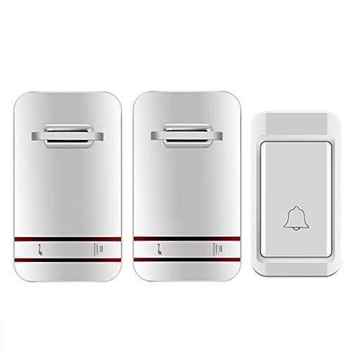 CXJJ Botón de Timbre Uno for Dos sin Interruptor de la batería Timbre Autogenerada Wireless Home Timbre de Llamada Antiguo Autogenerada Impermeable Timbre de Puerta