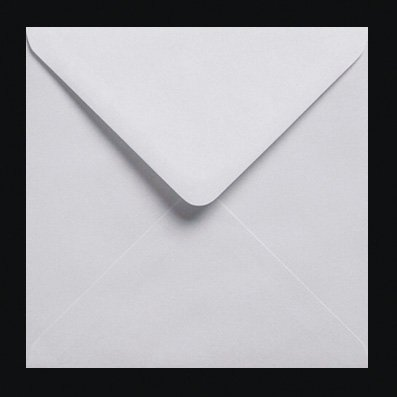 200 enveloppes carrées gommées Blanc 100gms 155 x 155 mm (6
