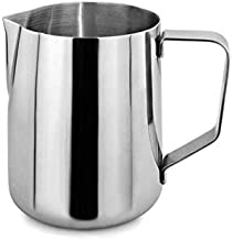 Milk Frothing Pitcher, Stainless Steel Creamer Frothing Pitcher 20 oz (600 ml)