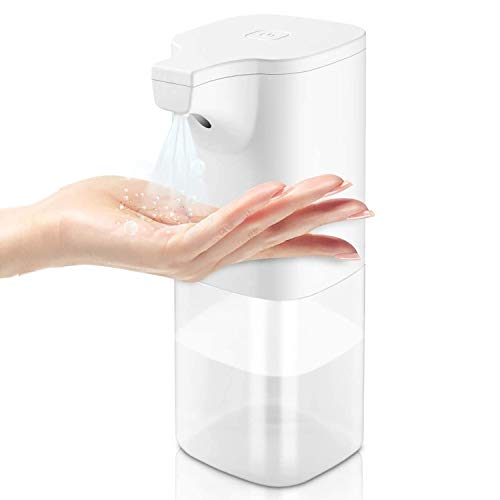 ATOKIT Desinfektionsspender Sensor Desinfektionsmittelspender, Automatischer Infrarot Sensor Desinfektion Spender 350ml Hand Desinfektionsspender Berührungslos Zwei Einstellbaren Modi für Küche Bad
