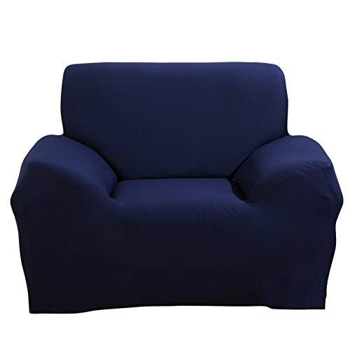 JIAN YA NA Stuhlhusse, ausziehbar, 1 Sitzer, Bezug aus Stoff, Schutz für Sessel, Blau, 1-Sitzer: 90 – 140 cm