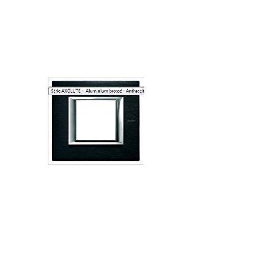 Bticino axolute - Placa 2 módulo axolute antracita pulida