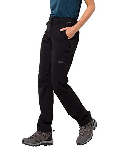 Jack Wolfskin Activate XT Damen vielseitige Damen Softshellhose, wind- und wasserabweisende Outdoorhose, Schwarz (Black), 18