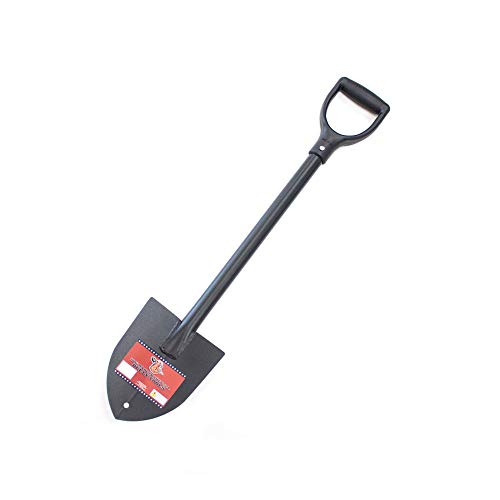 Bully Tools 92712 14-Gauge Round Point Trunk Shovel with Poly D-Grip Handle
