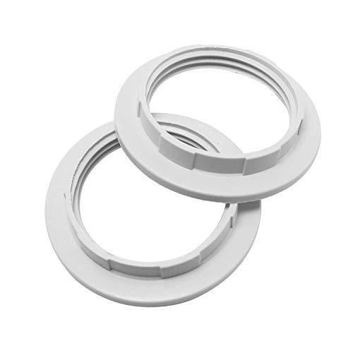Maxmoral 2pcs Lamp Shade Ring Lighting Accessories Lamp Holder Ring Light Collar Ring E26 E27 Lock Socket Replacement Adapter Ring