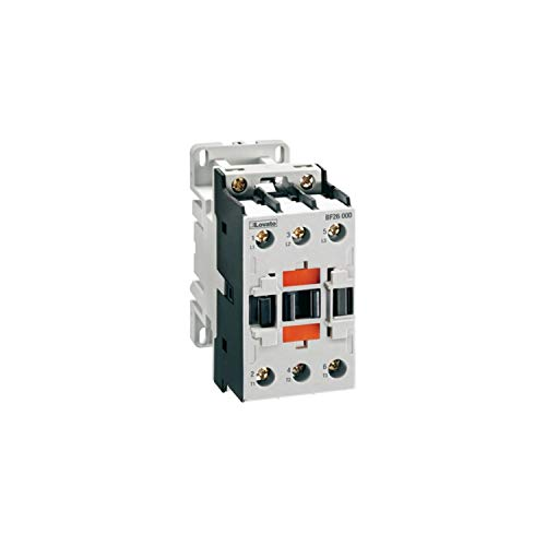 Contactor tripolar, 26A, 13kW, AC3, bobina 12V, DC, 4,8 x 11 x 9,3 centímetros, color gris (Referencia: BF2600D024)