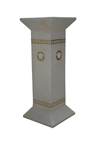 Antikes Wohndesign Blumensäule Blumenständer Versa SerieSäule Standsäule Creme Gold