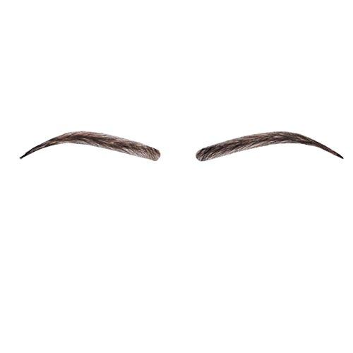 remeehi 100% Echthaar Full hand auf Fake Augenbrauen Frauen Simulation Make-up Augenbrauen