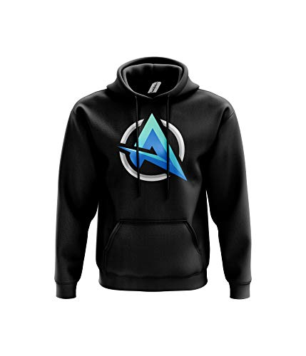 Ali A Inspired Hoodie- Merch Fans Vlogger Gaming Gift 80% Ringspun Cotton 20% Polyester Kangaroo Pouch Pocket Twin-Needle Stitching (7-8 Years, Black Prime)