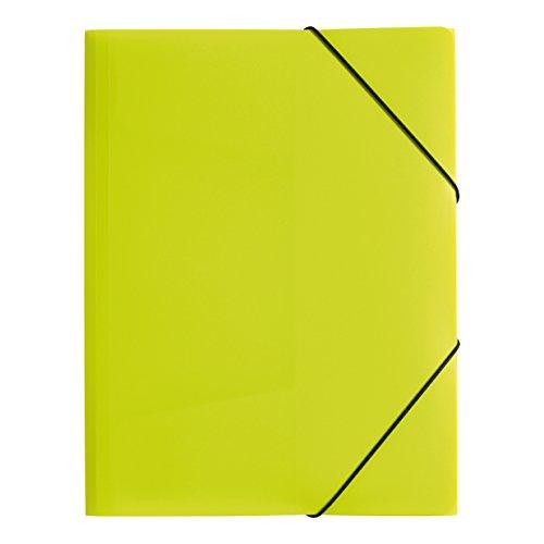 Pagna P2163817 - Carpeta (plástico, tamaño A3, con goma elástica), color verde translúcido
